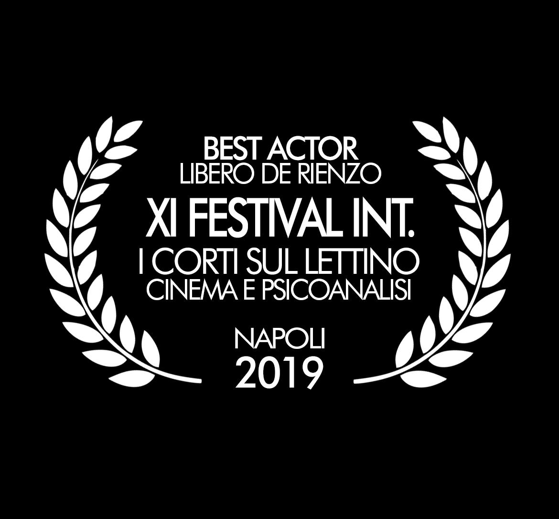 XI Festival Int. Cinema e Psicoanalisi Miglior Attore Libero De Rienzo